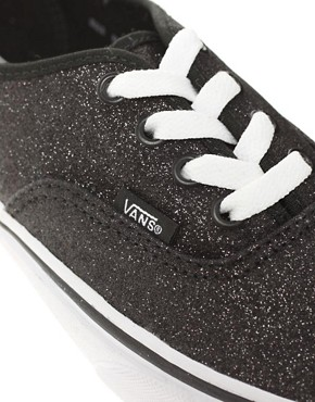 Image 2 ofVans Authentic Glitter Lace Up Trainers