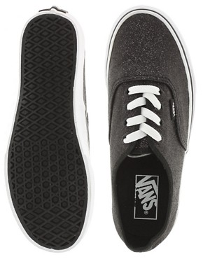 Image 3 ofVans Authentic Glitter Lace Up Trainers