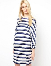 Baum und Pferdgarten Oversized Jersey Dress in Painted Stripe