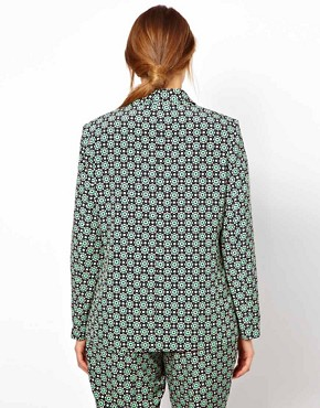 Image 2 ofASOS CURVE Exclusive Blazer In Statement Geo