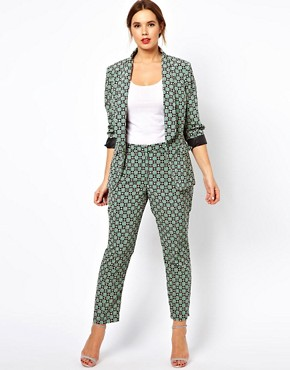 Image 4 ofASOS CURVE Exclusive Blazer In Statement Geo