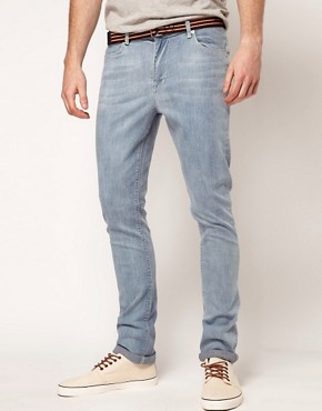 Image 1 ofASOS Super Skinny Jeans In Light Wash