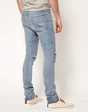 Image 2 ofASOS Super Skinny Jeans In Light Wash