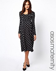 ASOS Maternity Spot Midi Dress