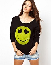 Only  Sweatshirt mit Smiley