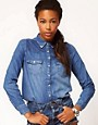 Image 1 ofRiver Island Texas Denim Shirt
