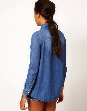 Image 2 ofRiver Island Texas Denim Shirt