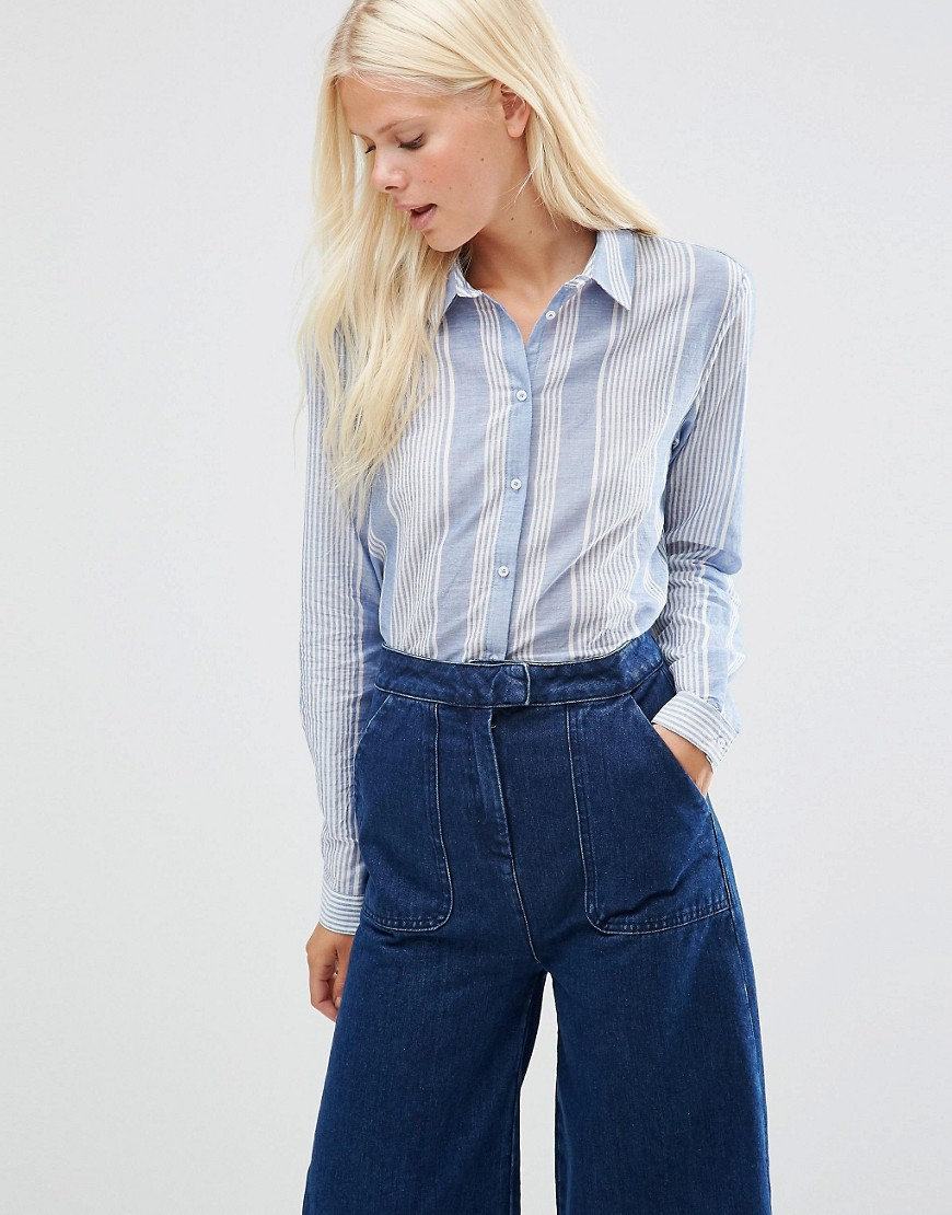 minimum-eleta-stripe-shirt-blue