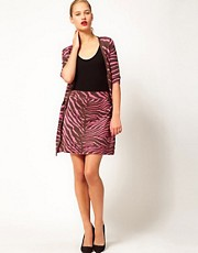 M Missoni Zebra Mini Skirt With Tie Side