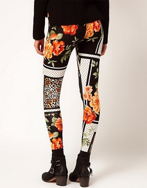 Image 2 ofRiver Island Chelsea Girl Printed Legging