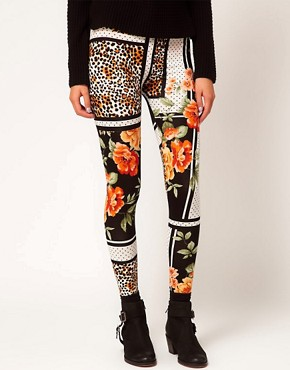 Image 4 ofRiver Island Chelsea Girl Printed Legging