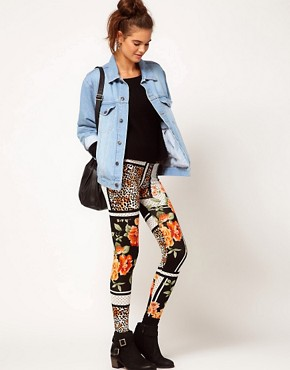 Image 1 ofRiver Island Chelsea Girl Printed Legging