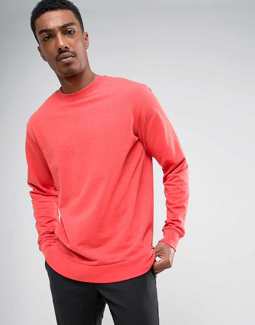 Weekday Steve Washed Sweatshirt - Red