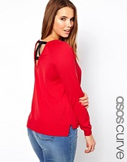 ASOS CURVE Sweater With Back Detail