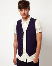 ASOS Slim Fit Waistcoat in Cotton