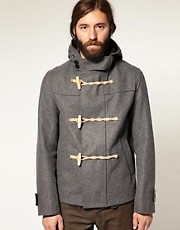 Gloverall Made In England Melton Wool Cropped Duffle Coat