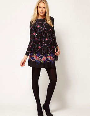 Image 4 ofASOS Maternity Smock Dress With Floral Border