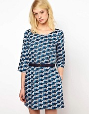 Orla Kiely 60s Dress in Poolside Print