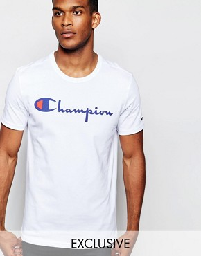 Champion Script T-Shirt Exclusive To ASOS