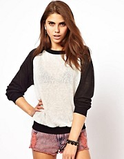 Glamorous Jersey Sweatshirt with Contrast Sleeve