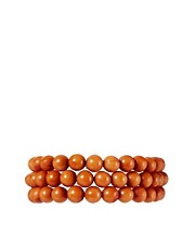 ASOS Tan Triple Bead Bracelet