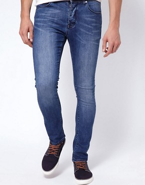 Image 1 ofASOS Super Skinny Jeans In Washed Blue