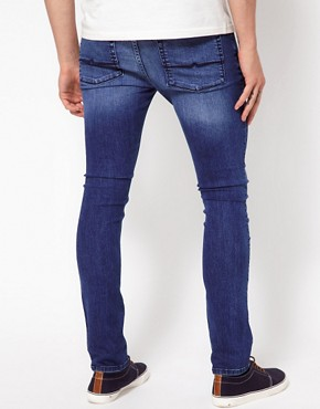 Image 2 ofASOS Super Skinny Jeans In Washed Blue