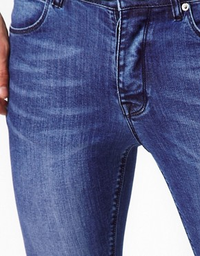 Image 3 ofASOS Super Skinny Jeans In Washed Blue
