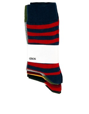 Image 3 ofASOS Rugby Stripe 5 Pack Sock