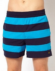 Lyle &amp; Scott Striped Swim Shorts
