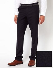 Peter Werth Slim Fit Trouser With Trim
