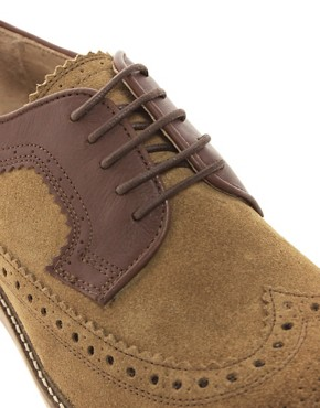 Image 2 ofH By Hudson Crawford Suede Brogue Shoes