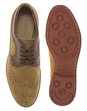 Image 3 ofH By Hudson Crawford Suede Brogue Shoes