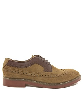 Image 4 ofH By Hudson Crawford Suede Brogue Shoes