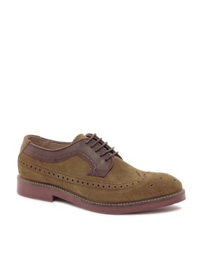 Image 1 ofH By Hudson Crawford Suede Brogue Shoes