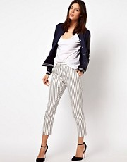 ASOS Pants in Gray Stripe