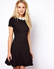 ASOS Skater Dress With Contrast Collar