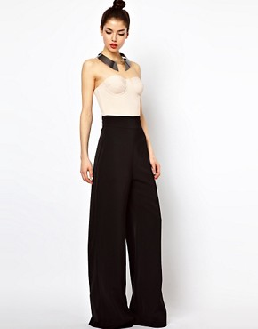 Image 1 ofAqua Bleeker Trouser with High Waist and Wide Leg