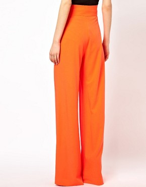 Image 2 ofAqua Bleeker Trouser with High Waist and Wide Leg