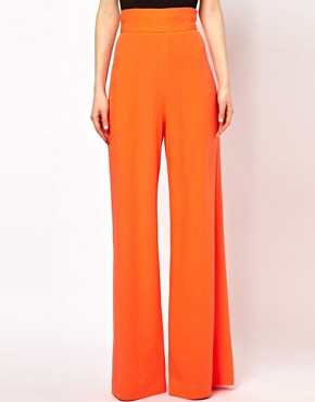 Image 4 ofAqua Bleeker Trouser with High Waist and Wide Leg