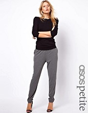 ASOS PETITE Peg Trousers In Grey Marl