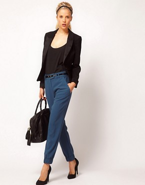 Image 1 ofASOS Trousers With Elastic Cuff