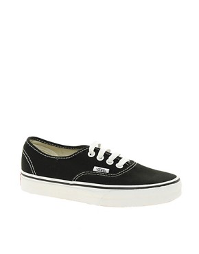 Bild 1 von Vans Authentic  Klassische Turnschuhe zum Schnren in Schwarz und Wei