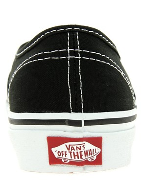 Bild 2 von Vans Authentic  Klassische Turnschuhe zum Schnren in Schwarz und Wei
