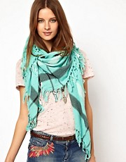 Maison Scotch Oversized Fringe Scarf