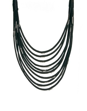 Image 1 ofASOS Multi Row Scarf Necklace