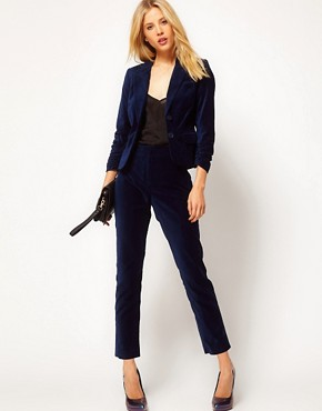 Image 1 ofASOS Velvet Tux Trousers