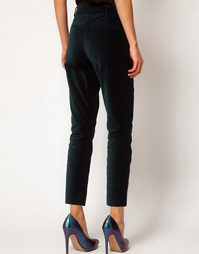 Image 2 ofASOS Velvet Tux Trousers