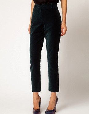 Image 4 ofASOS Velvet Tux Trousers