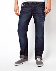 G-Star  Attac  Gerade geschnittene Jeans mit tiefem Hftsitz